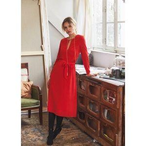 Sezane 100% silk Victorie Dress